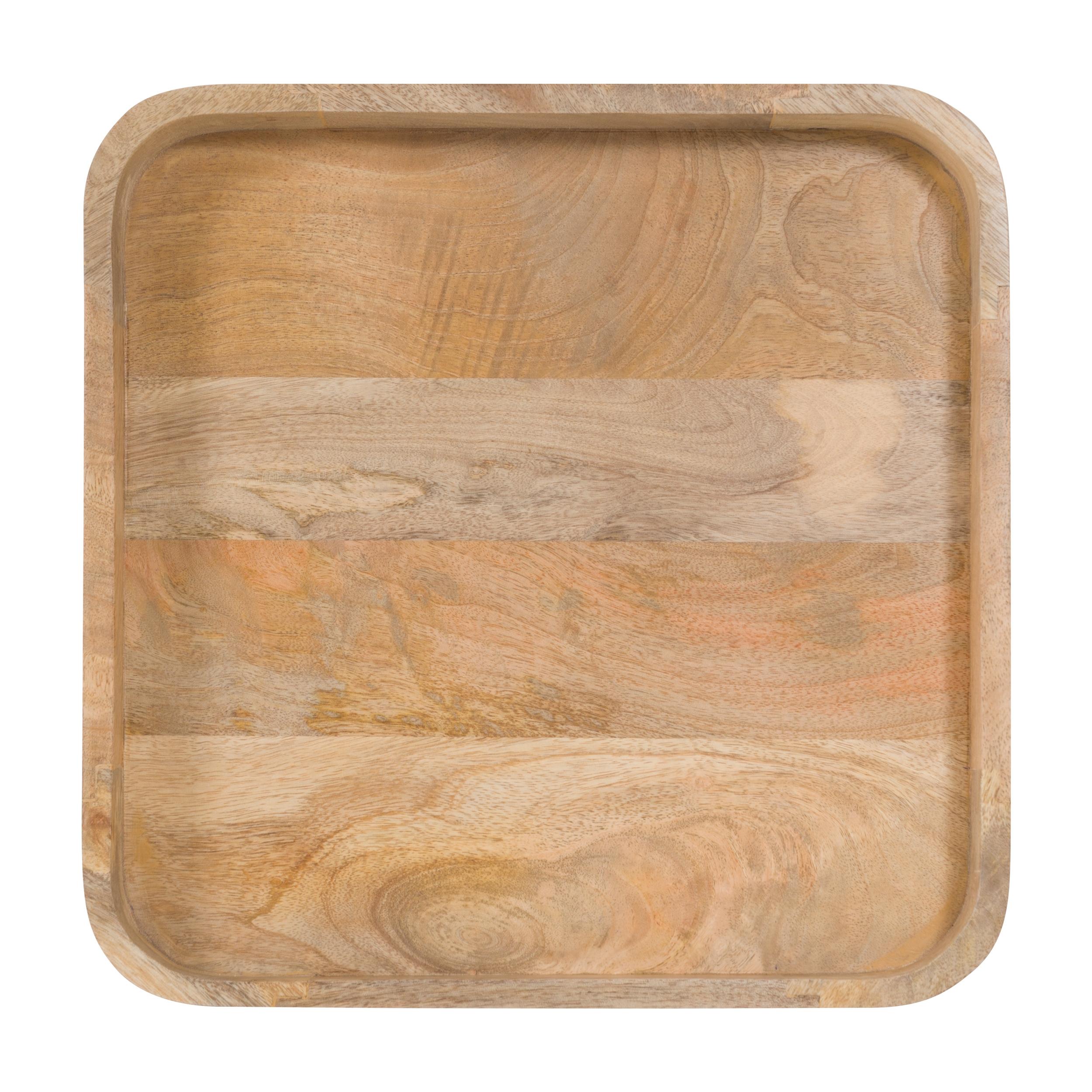 Table d'appoint carrée en bois de manguier
