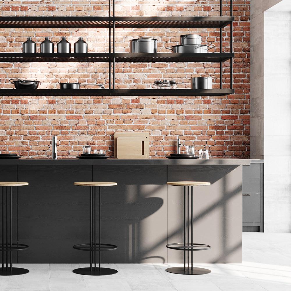 Tabouret de bar 75 cm en bois de manguier