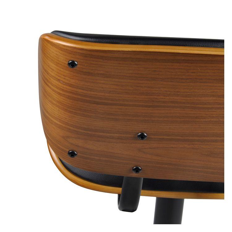Chaise de bar réglable 62/82 cm en cuir synthétique noir