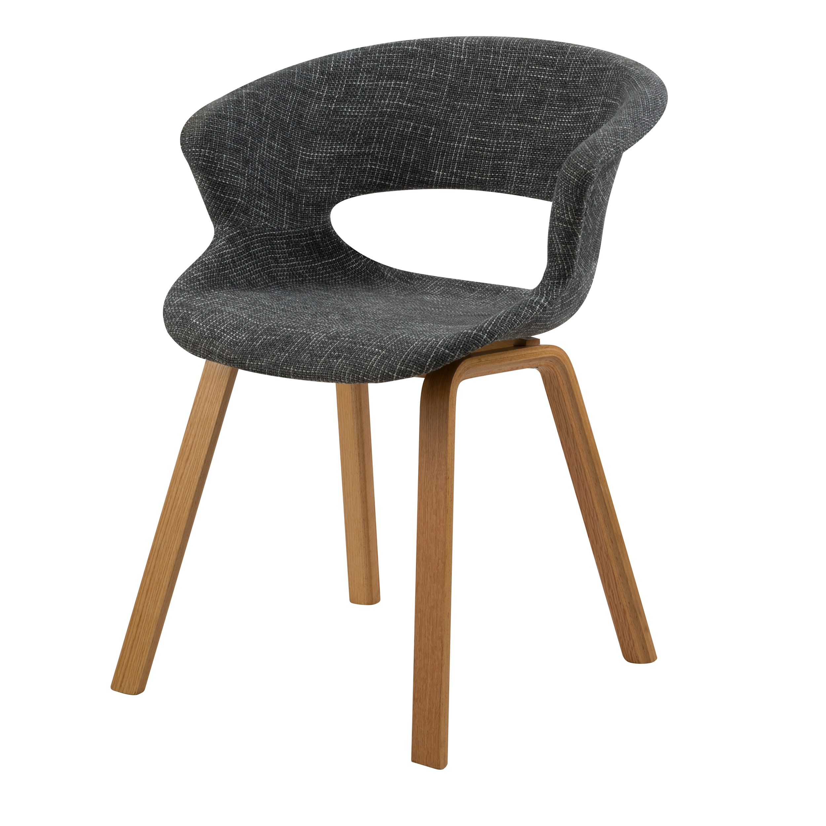 Chaise en tissu gris foncé