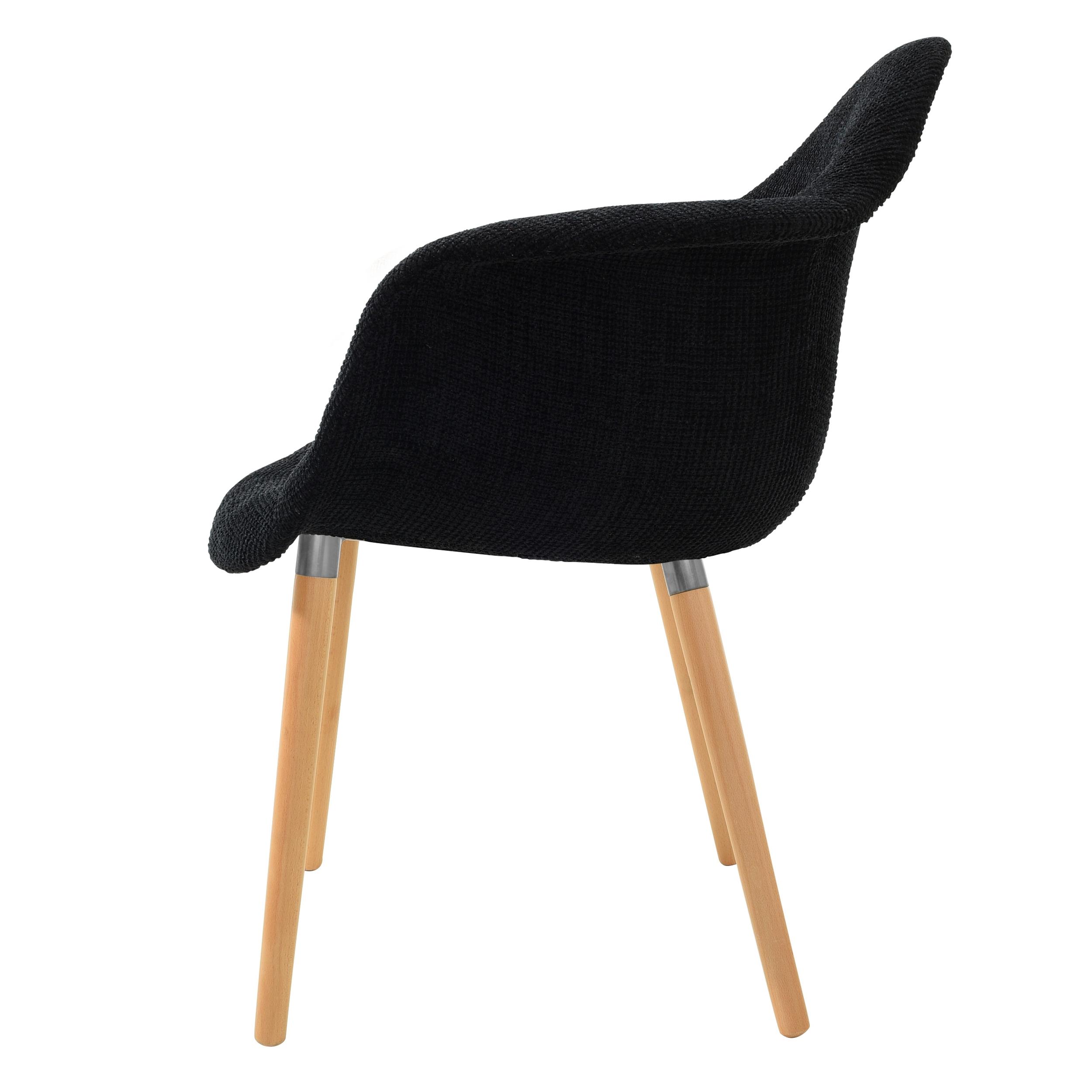 Chaise en tissu noir