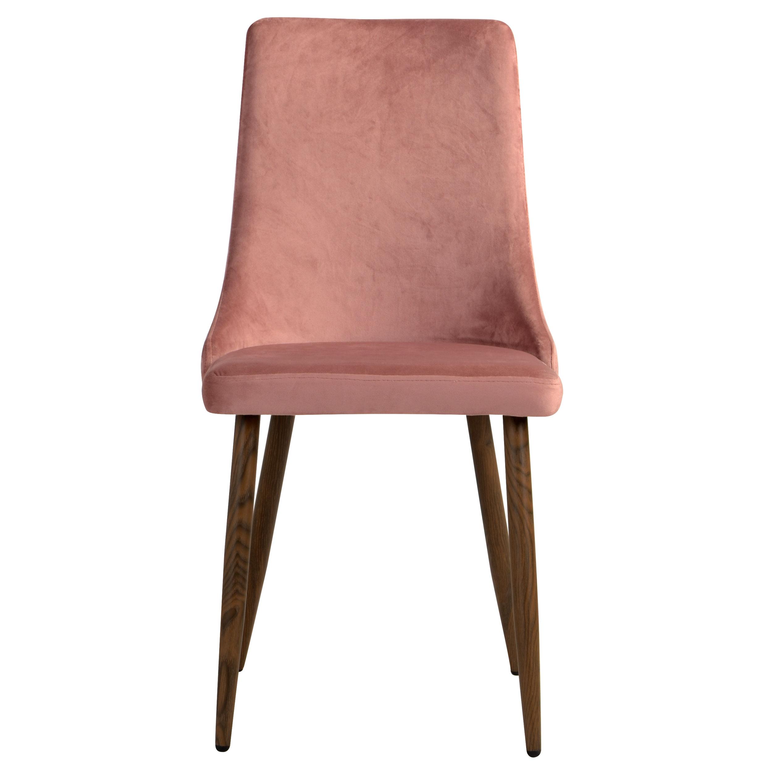 Chaise en velours rose (lot de 2)