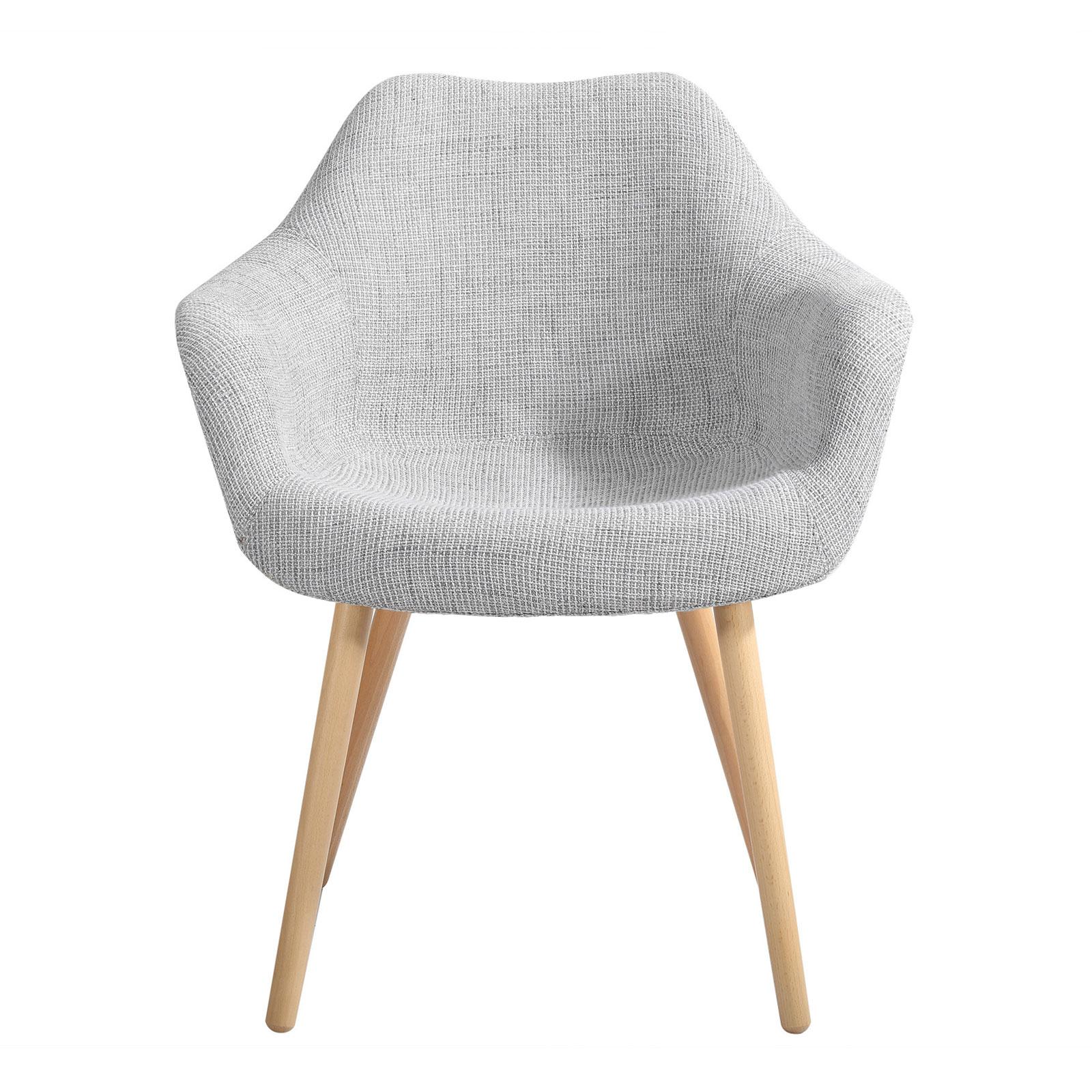 Chaise en tissu gris