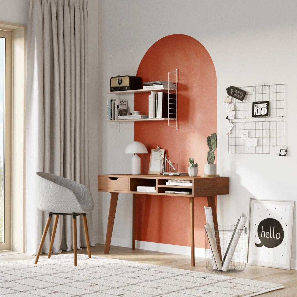 Chaise en tissu gris clair