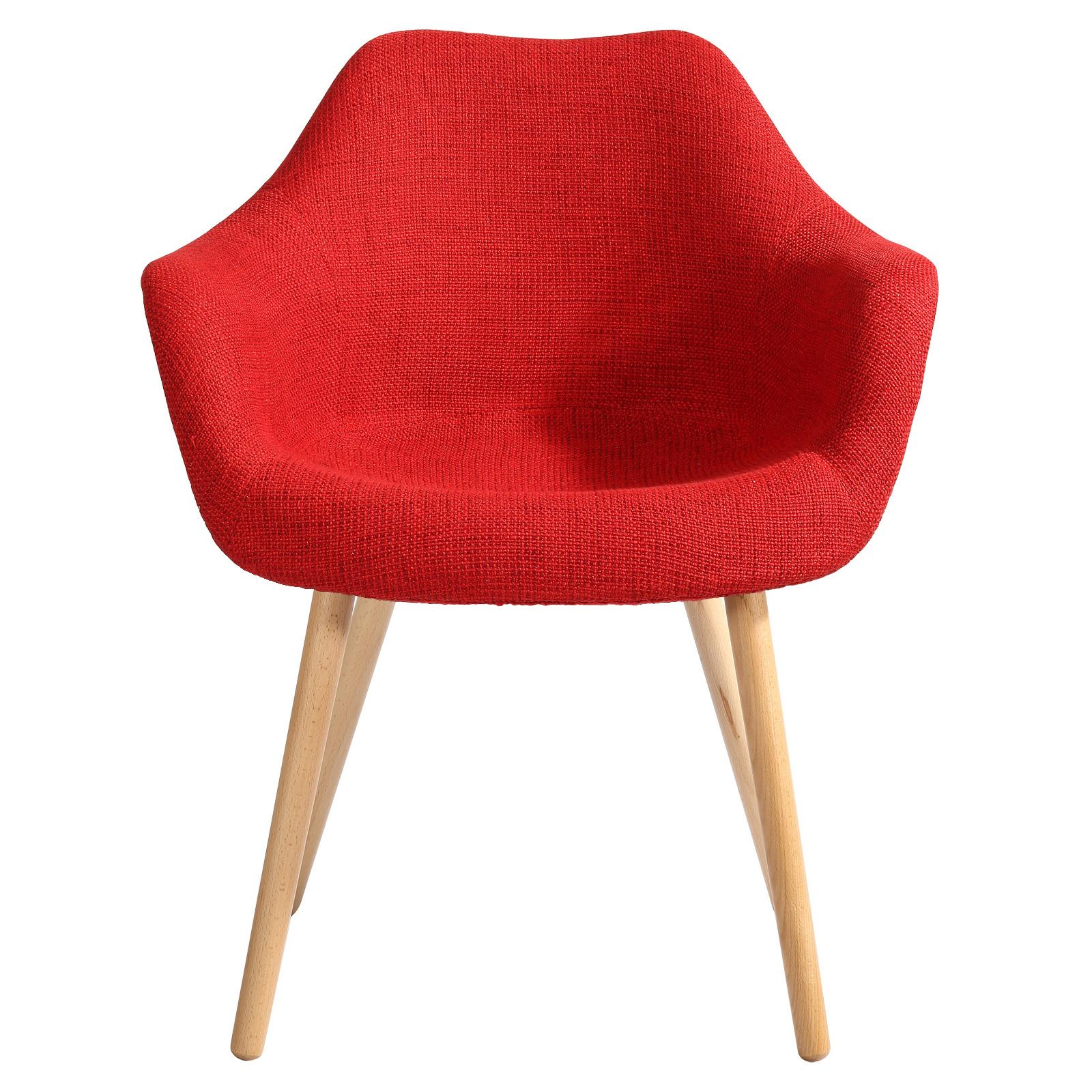 Chaise en tissu rouge