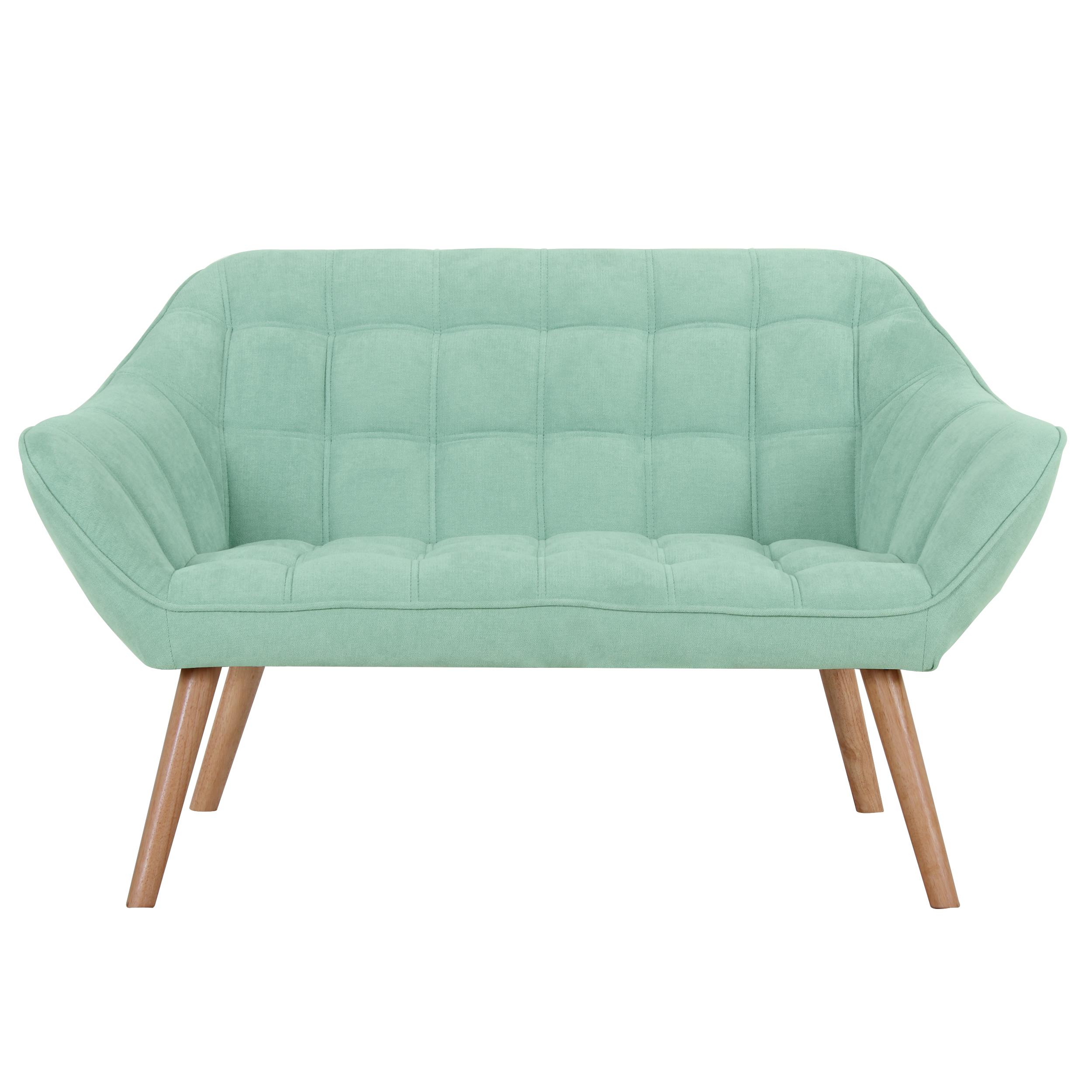 Canapé 2 places en tissu vert d'eau