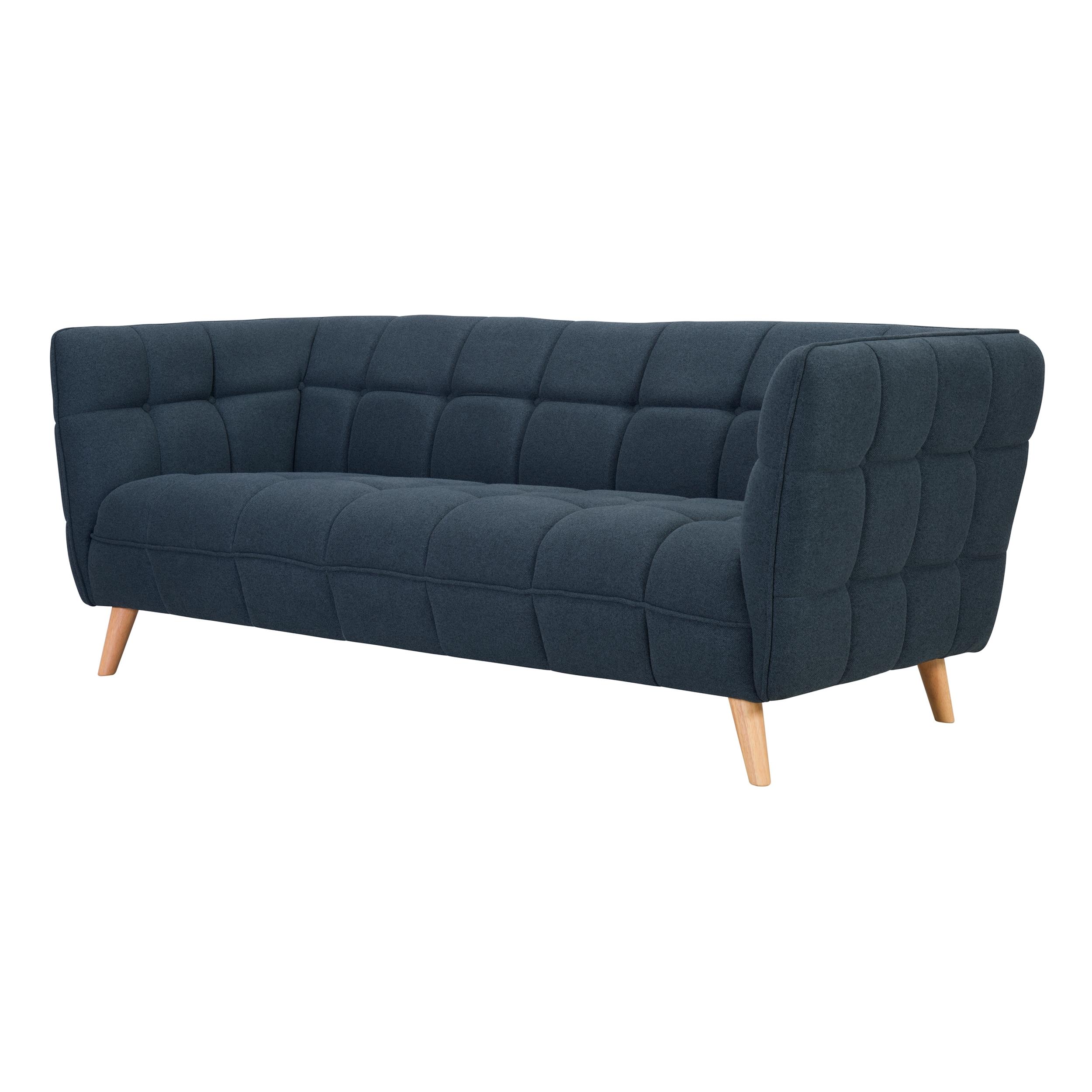 Canapé 3 places en tissu bleu gris