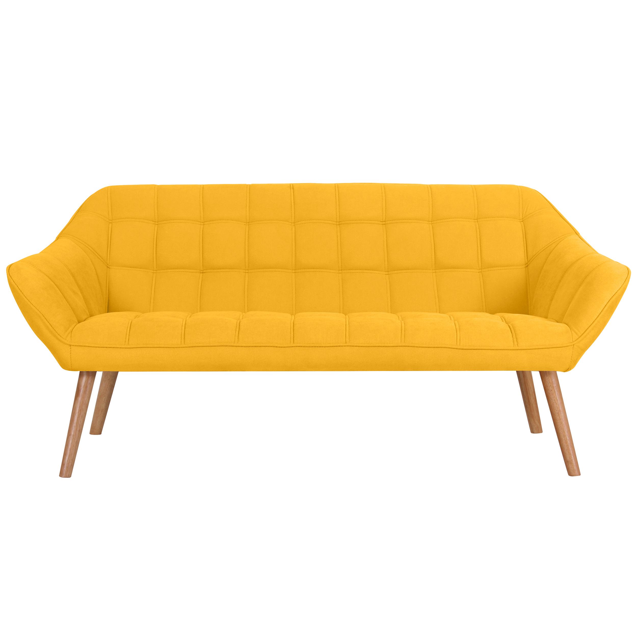 Canapé 3 places en tissu jaune