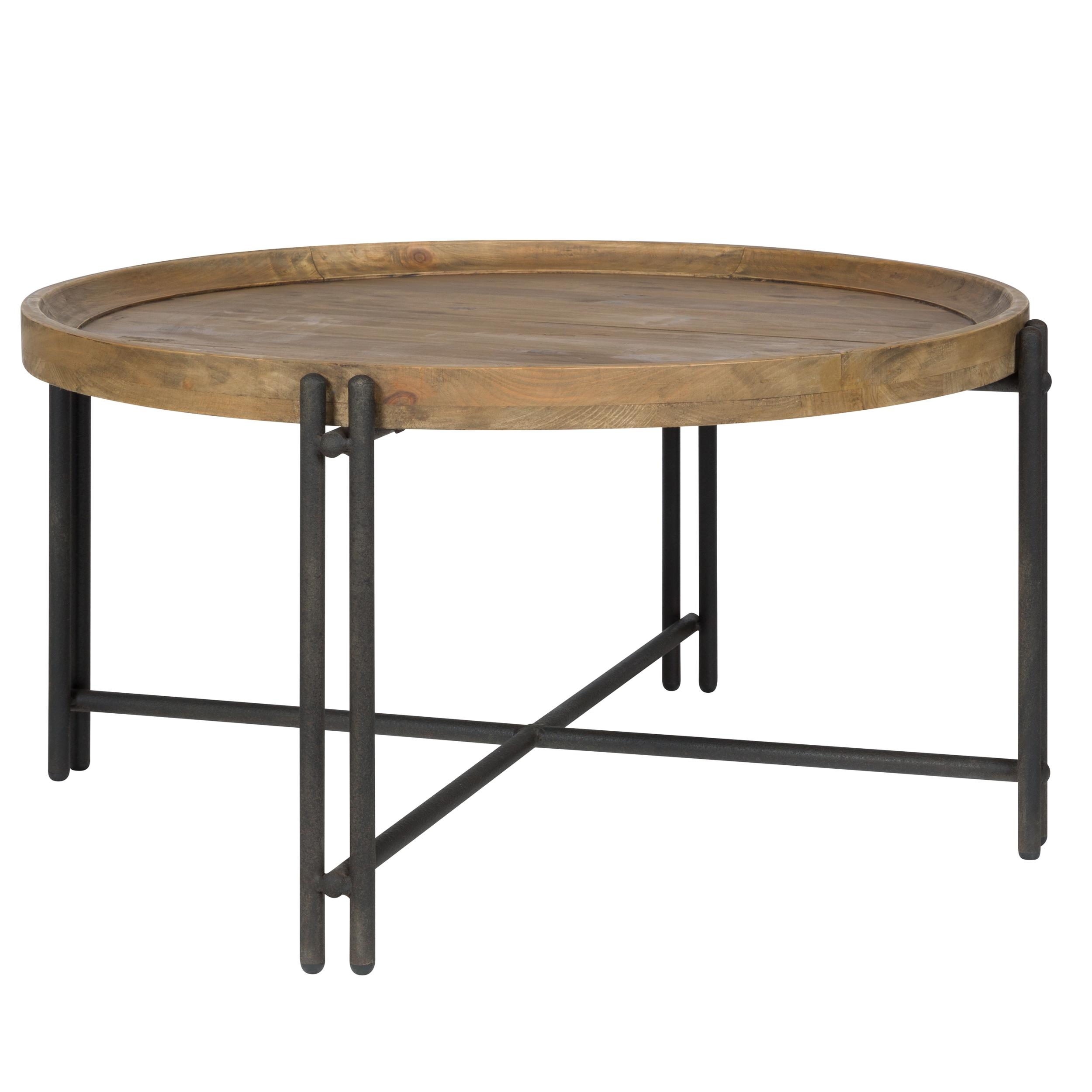 maison du monde Table basse ronde en bois recyclé et métal