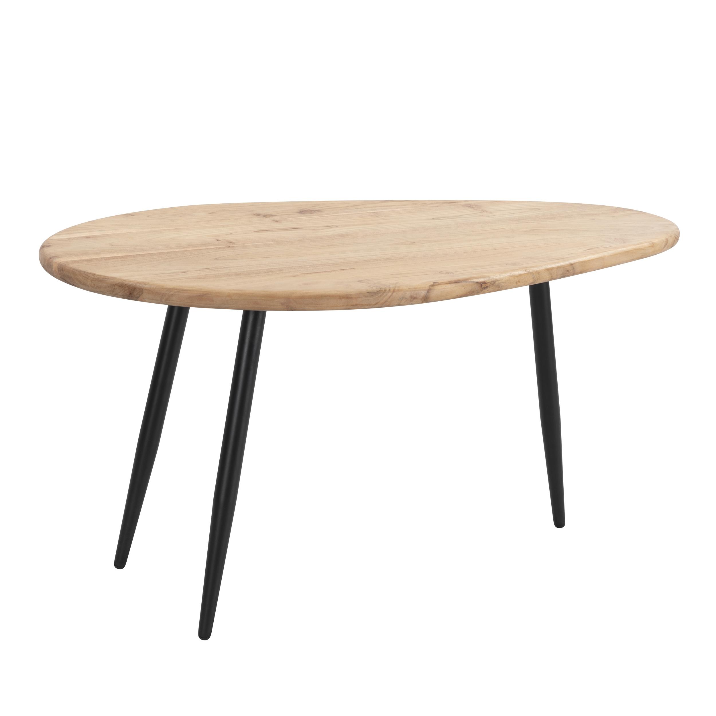 maison du monde Table basse ovale en bois d'acacia