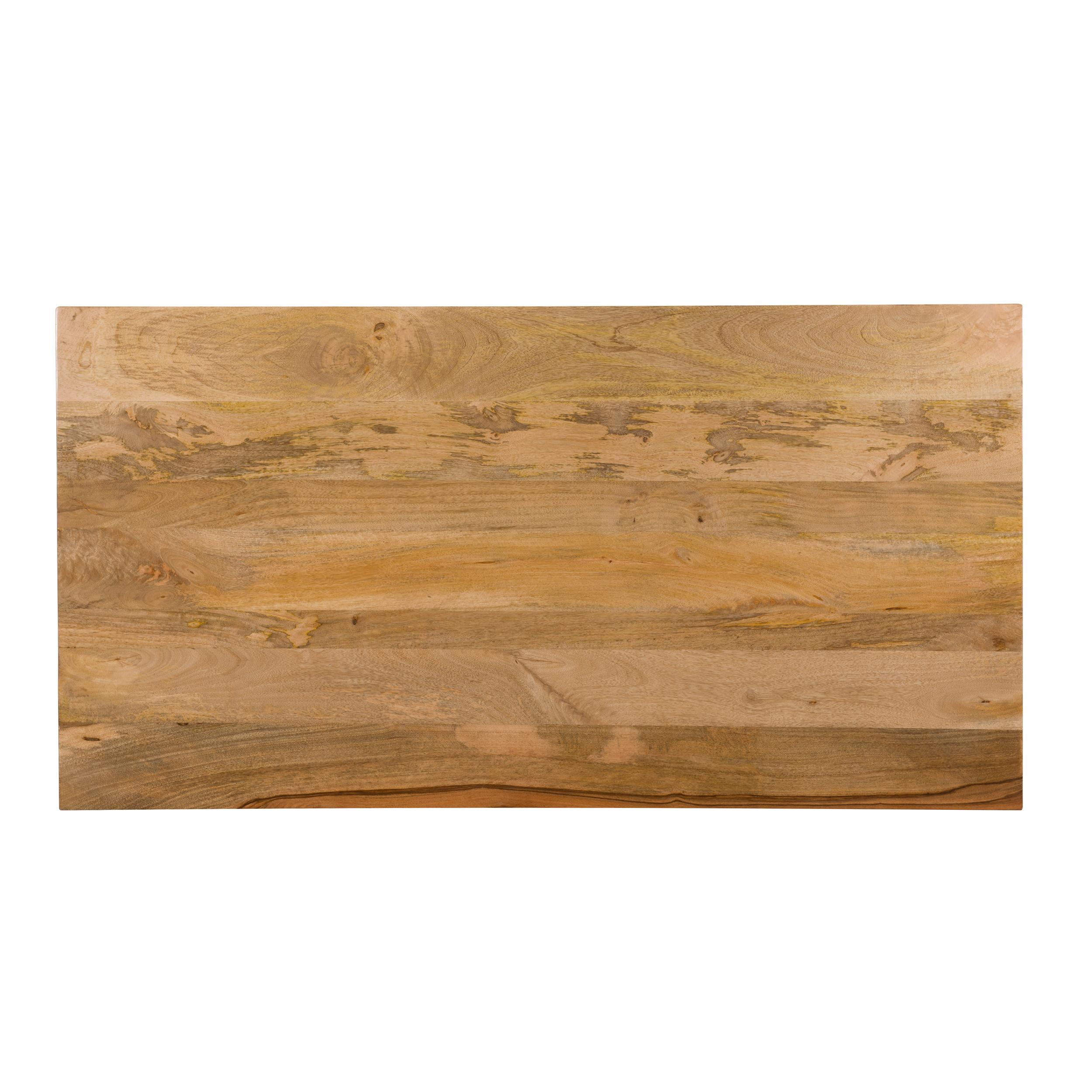 Table à manger rectangulaire en bois, 6 personnes