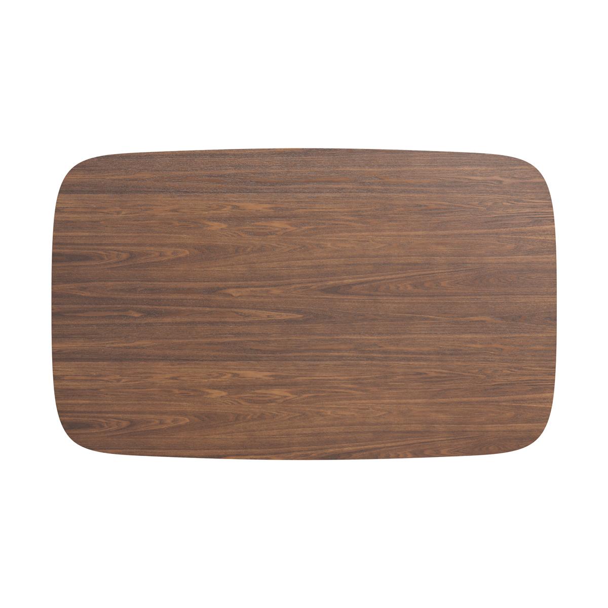 Table à manger rectangulaire en bois foncé, 4 personnes