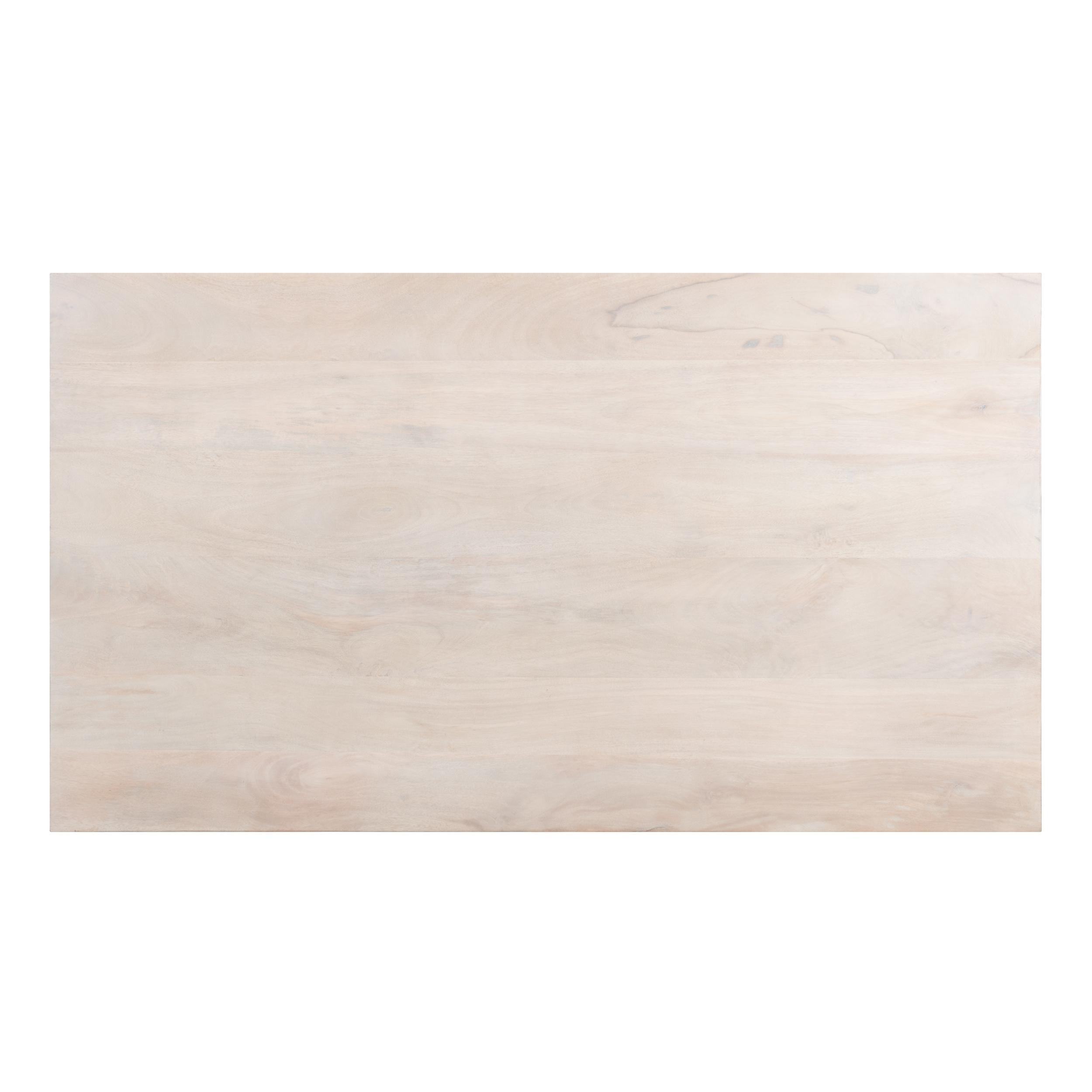 Table rectangulaire en bois de manguier et métal