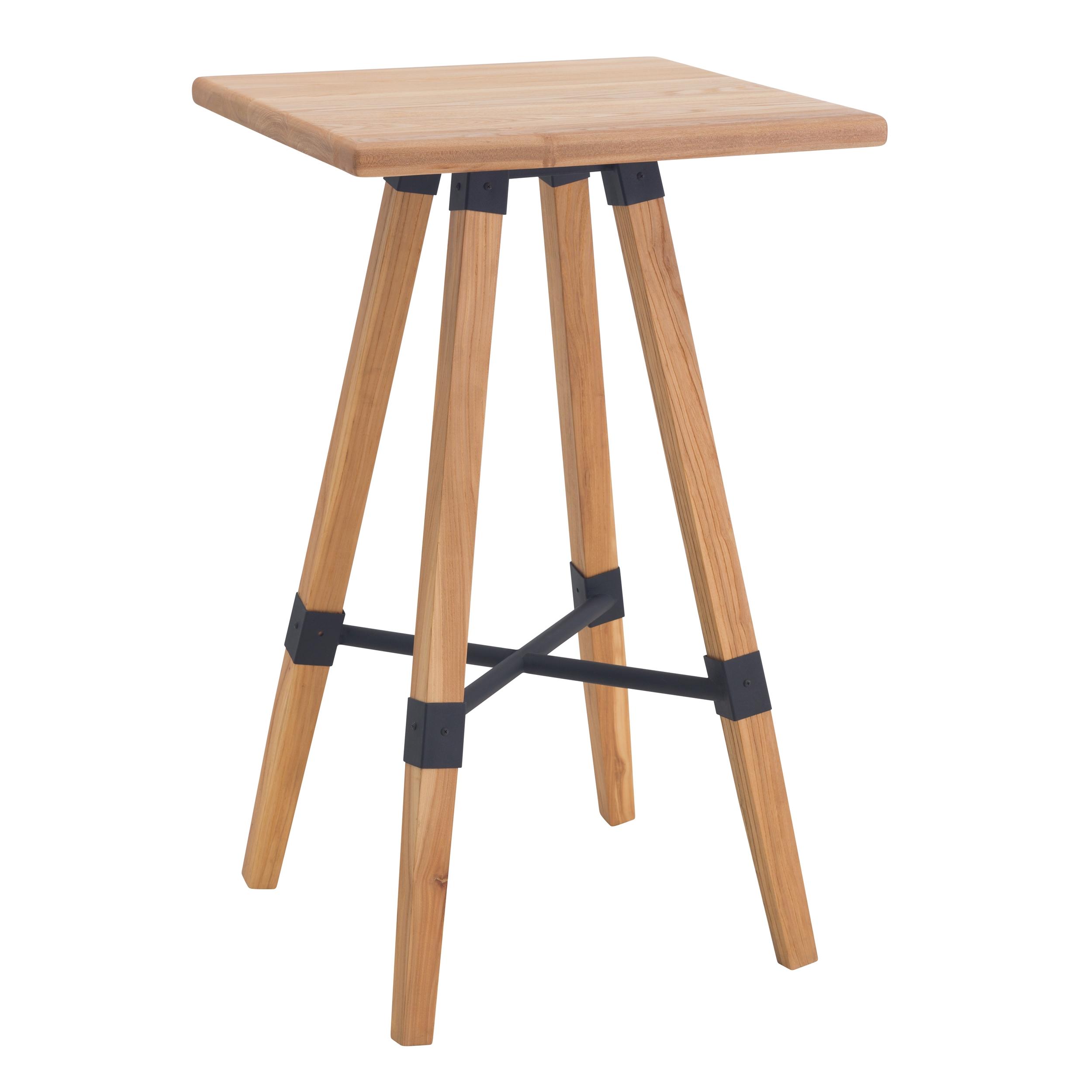 Table de bar carrée 100cm en bois de cèdre