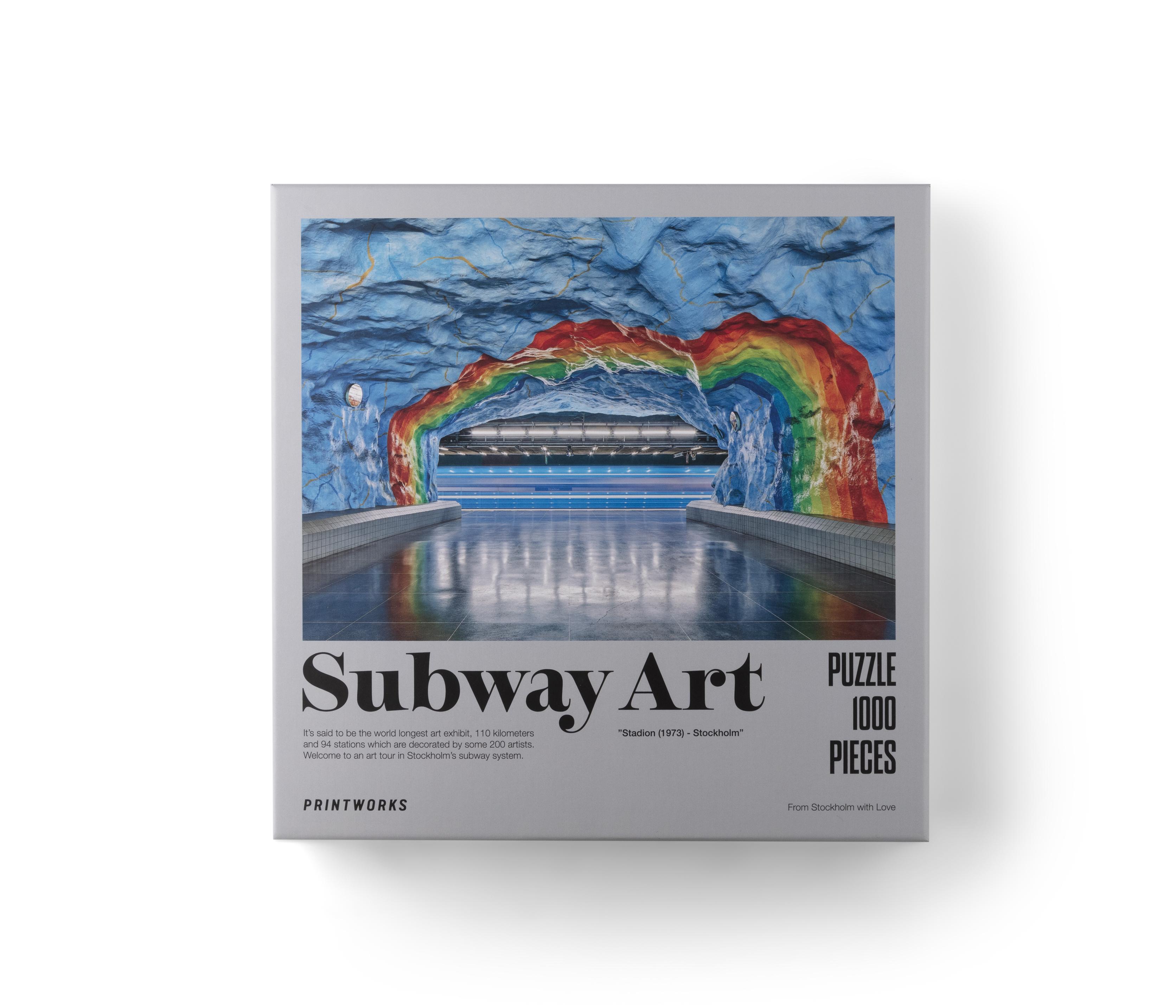 Puzzle Subway Art Rainbow