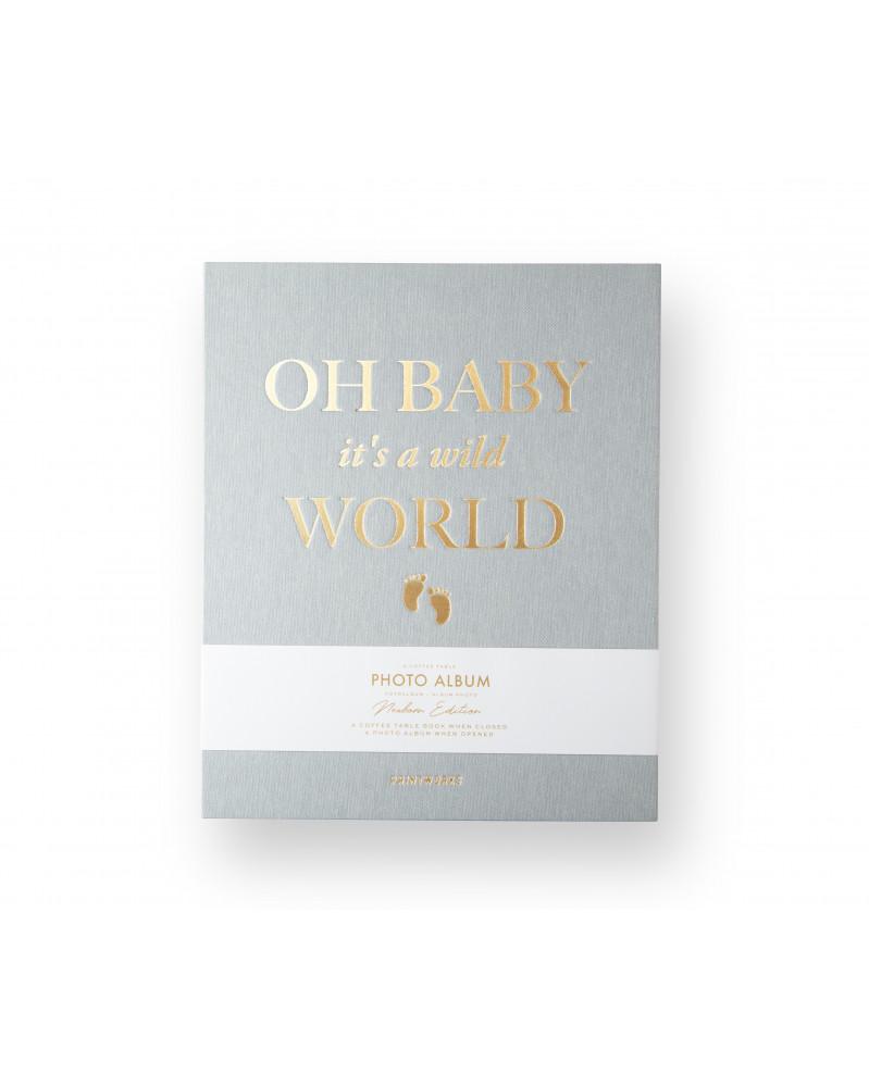 Album Photo Baby it's a Wild World Gris