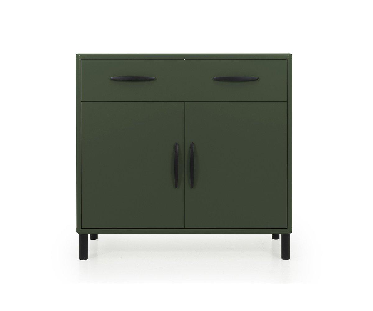 Buffet design 100cm en bois Vert