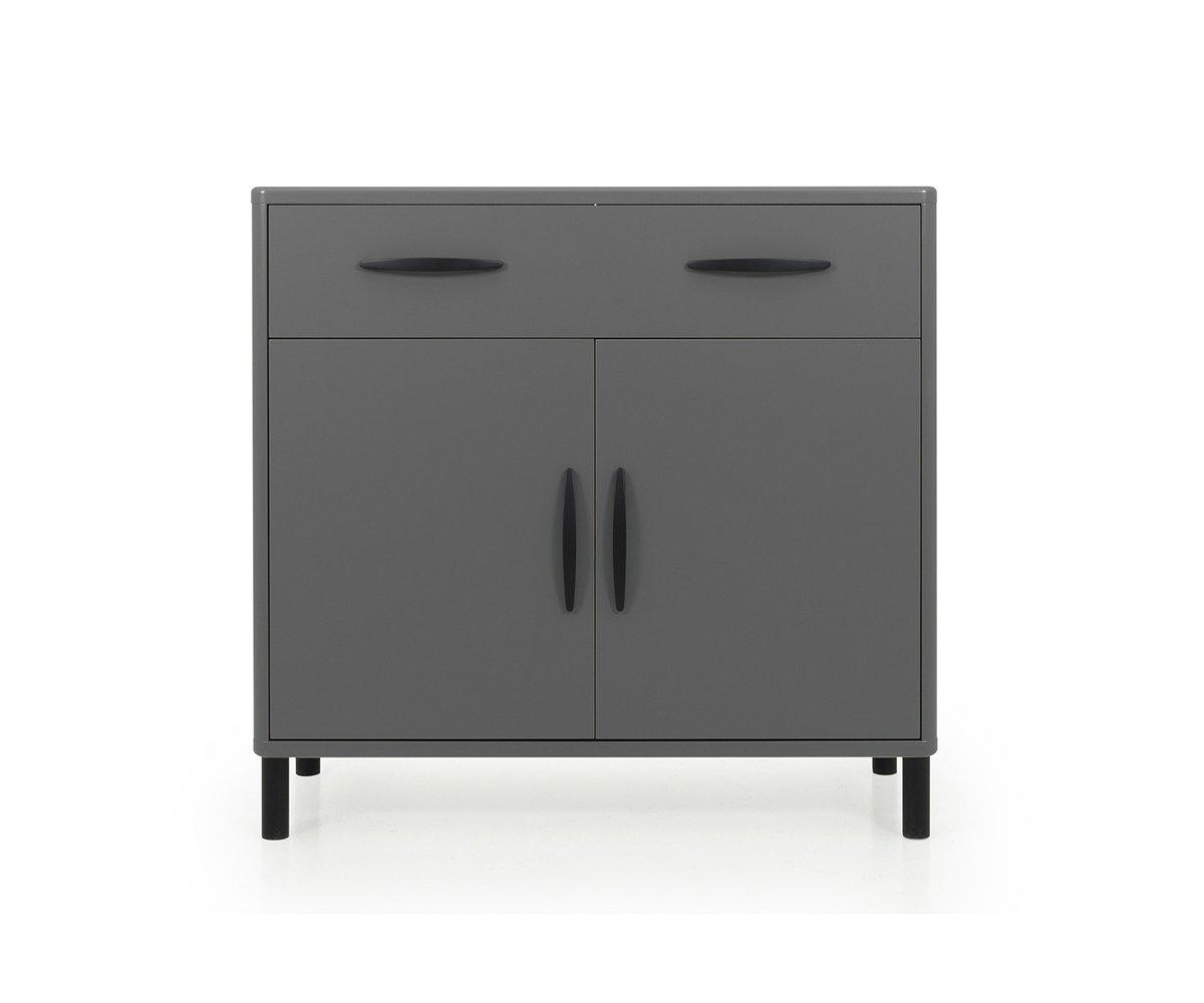 Buffet design 100cm en bois gris