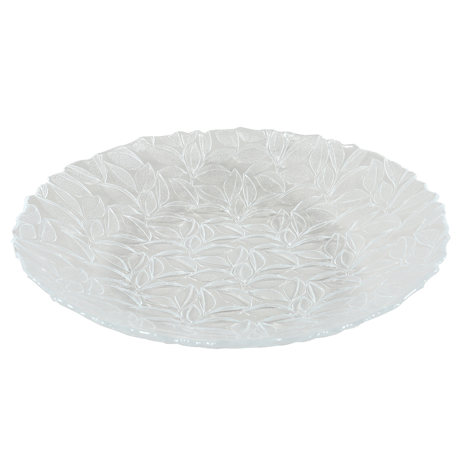 Centre de table en verre pressé 40 cm - Lot de 4
