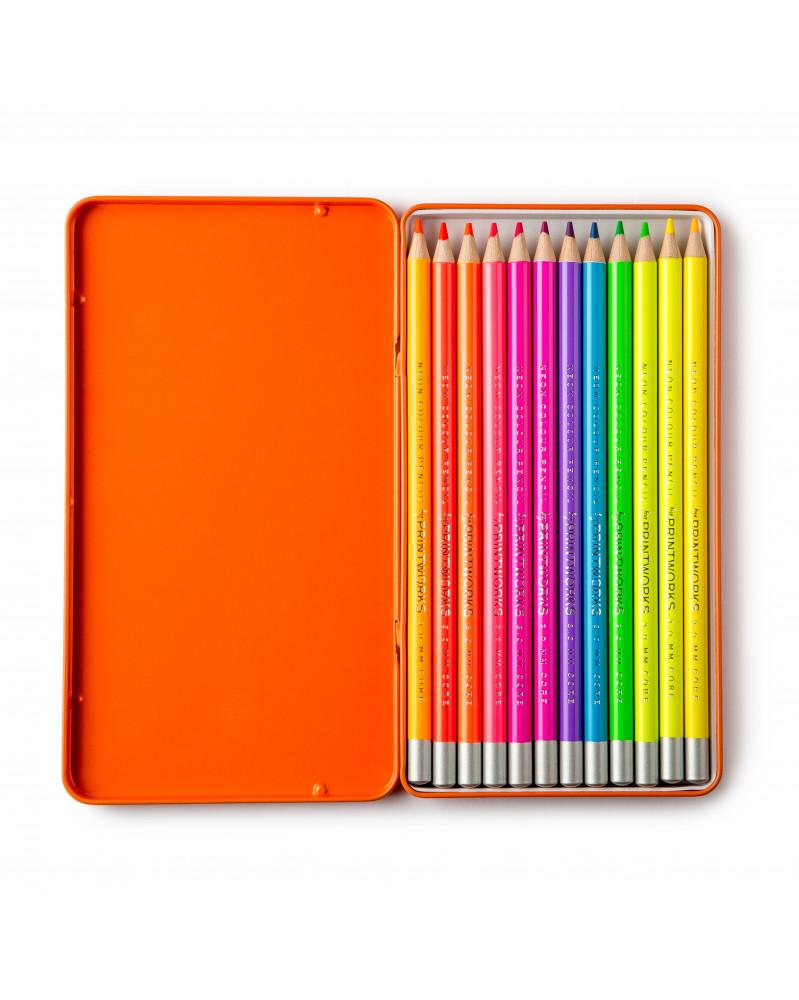 Boite de 12 Crayons de Couleur Neon Printworks