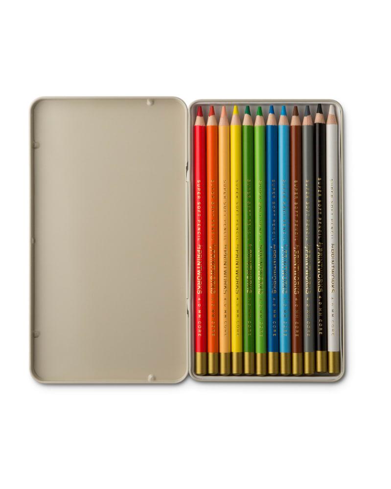 Boîte de 12 crayons en bois de couleurs variés