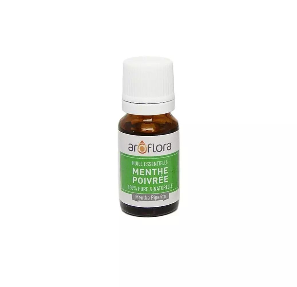 Huile essentielle bio de Menthe poivrée 100% pure et naturelle 10ml