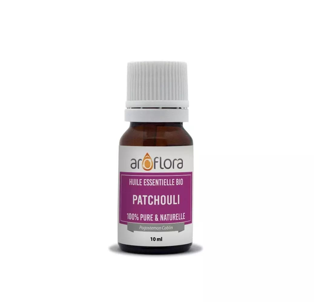 Huile essentielle bio de Patchouli 100% pure et naturelle 10ml