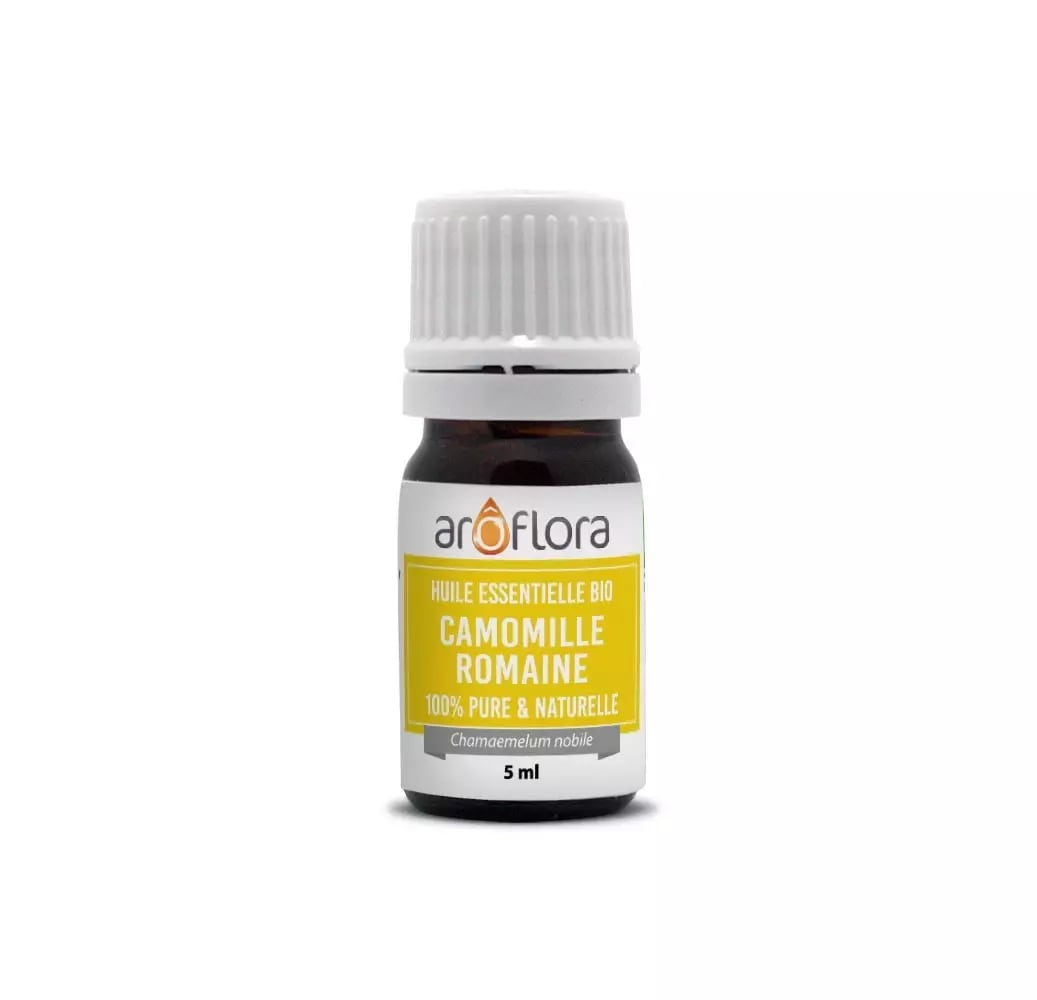Huile essentielle bio de Camomille romaine 100% pure et naturelle 5ml