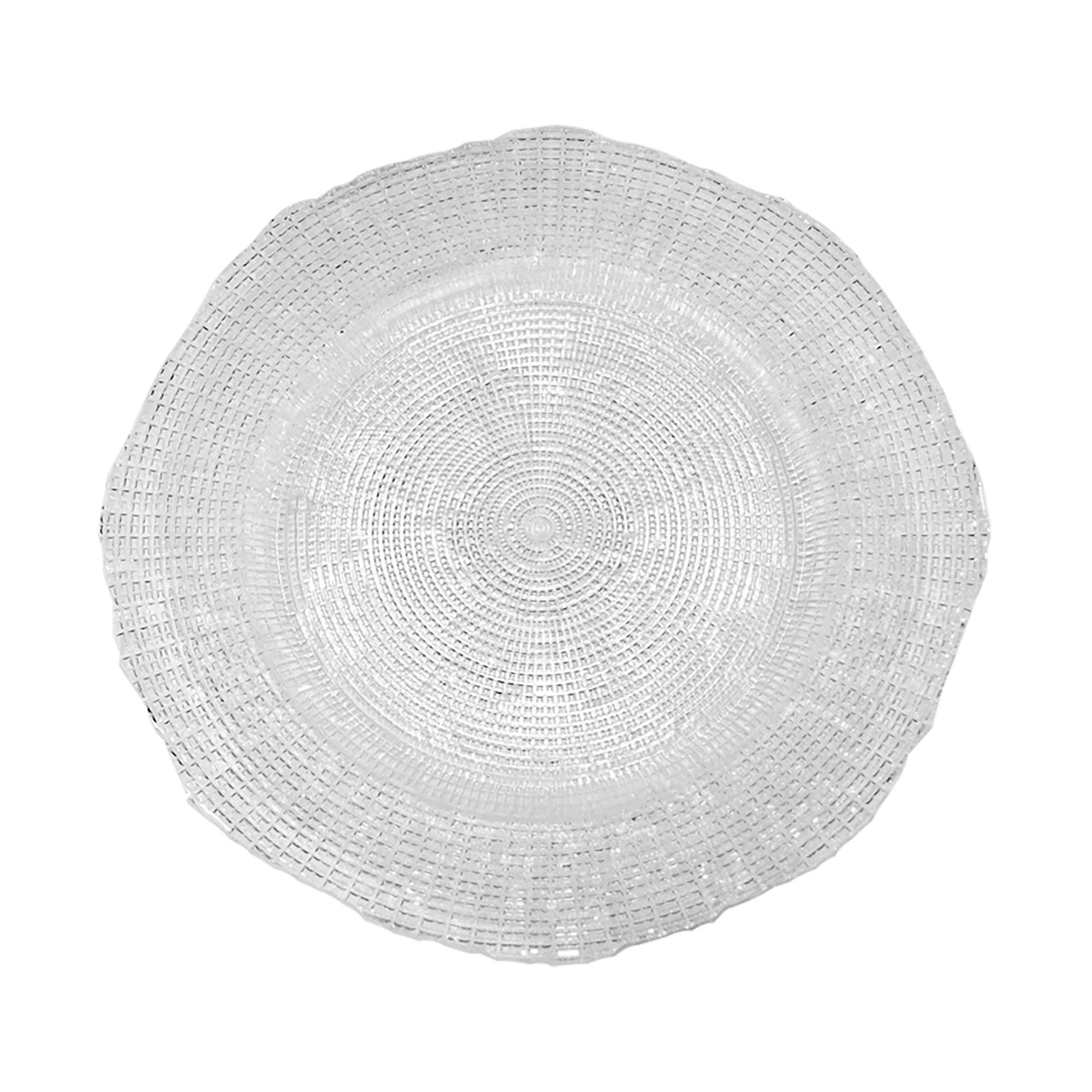 Assiette plate en verre pressé 27 cm - Lot de 6