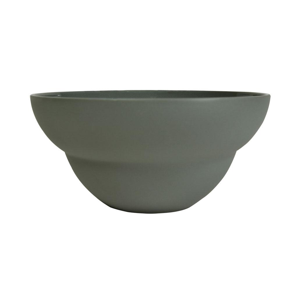 Coupelle en porcelaine gris 14 cm - Lot de 6