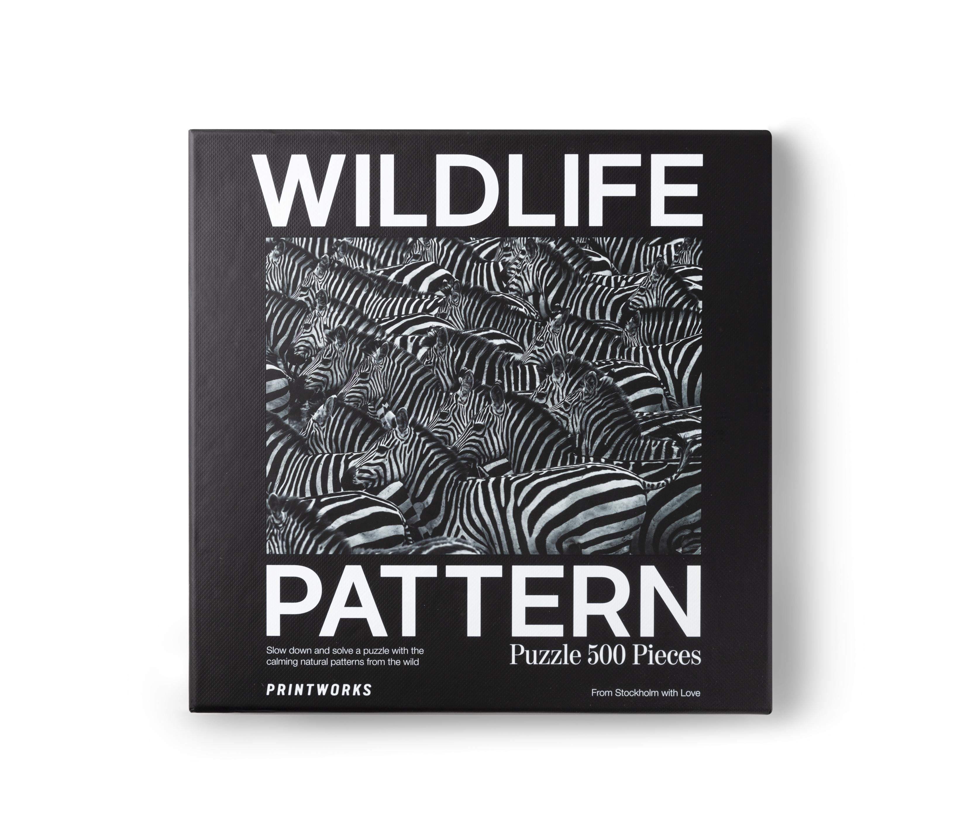 Puzzle motif imprimé zèbre Wildlife Pattern