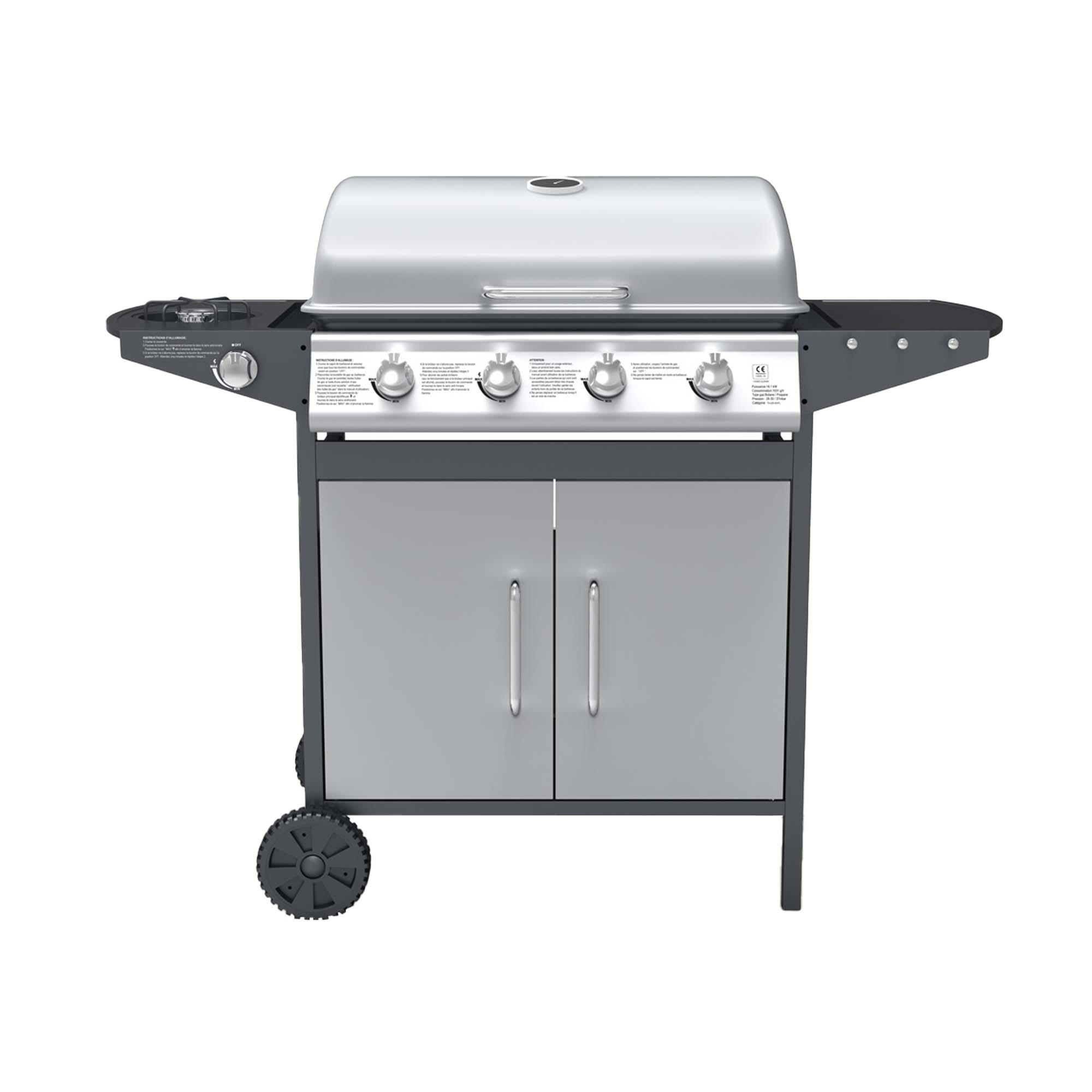Barbecue à gaz 4 + 1 brûleurs