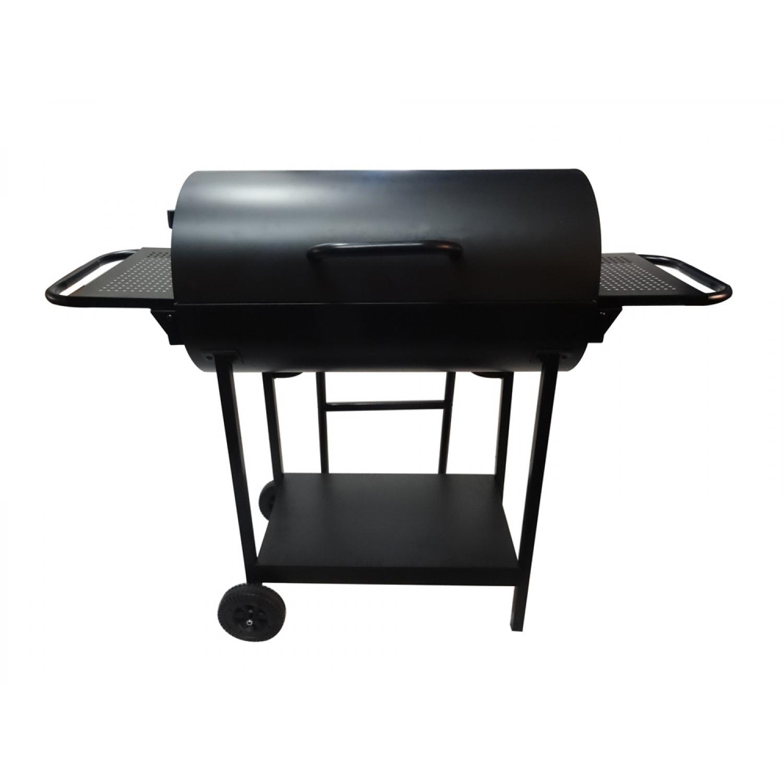 Barbecue double foyer au charbon de bois 69,5 x 37 cm