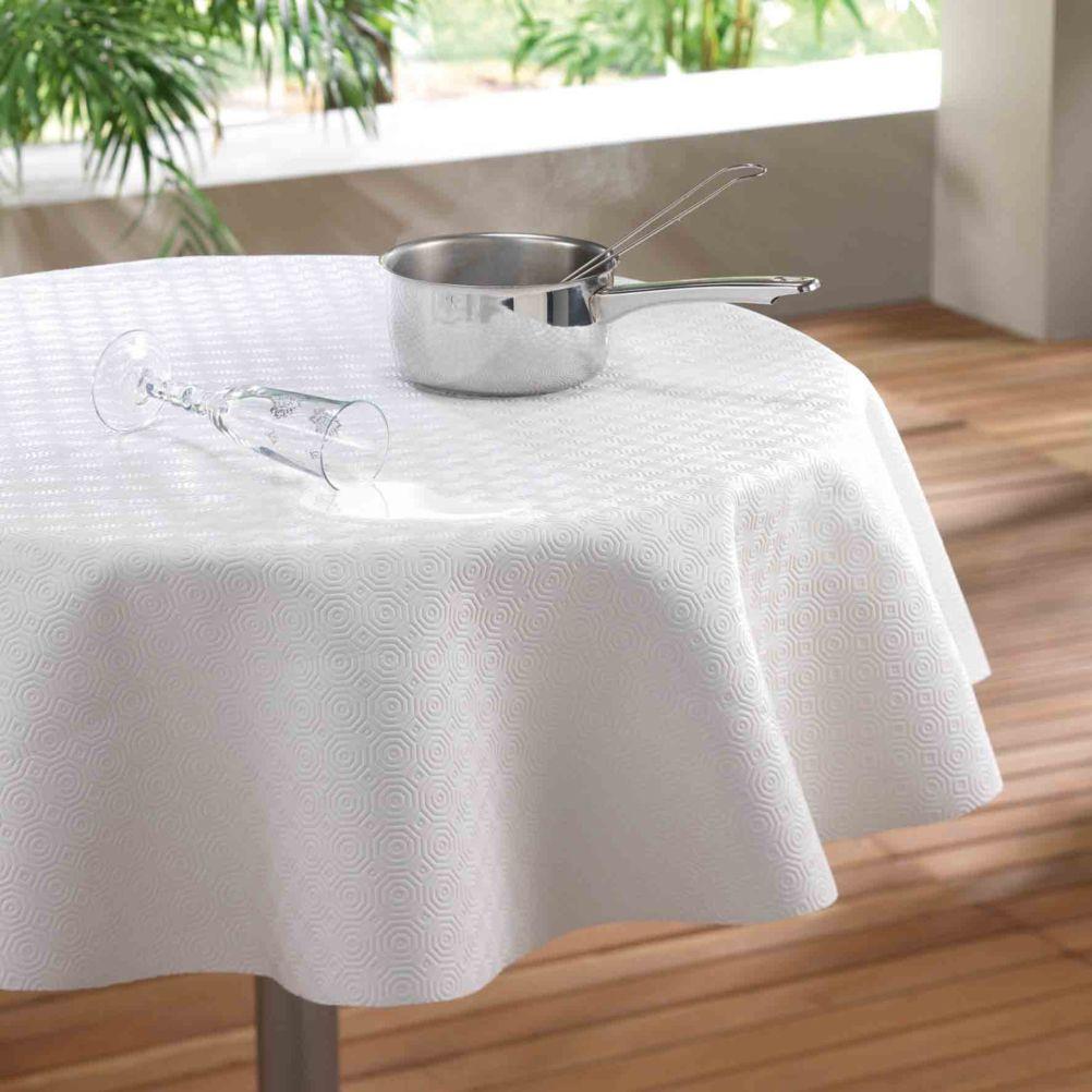 Protège table PVC sous nappe ronde D140cm