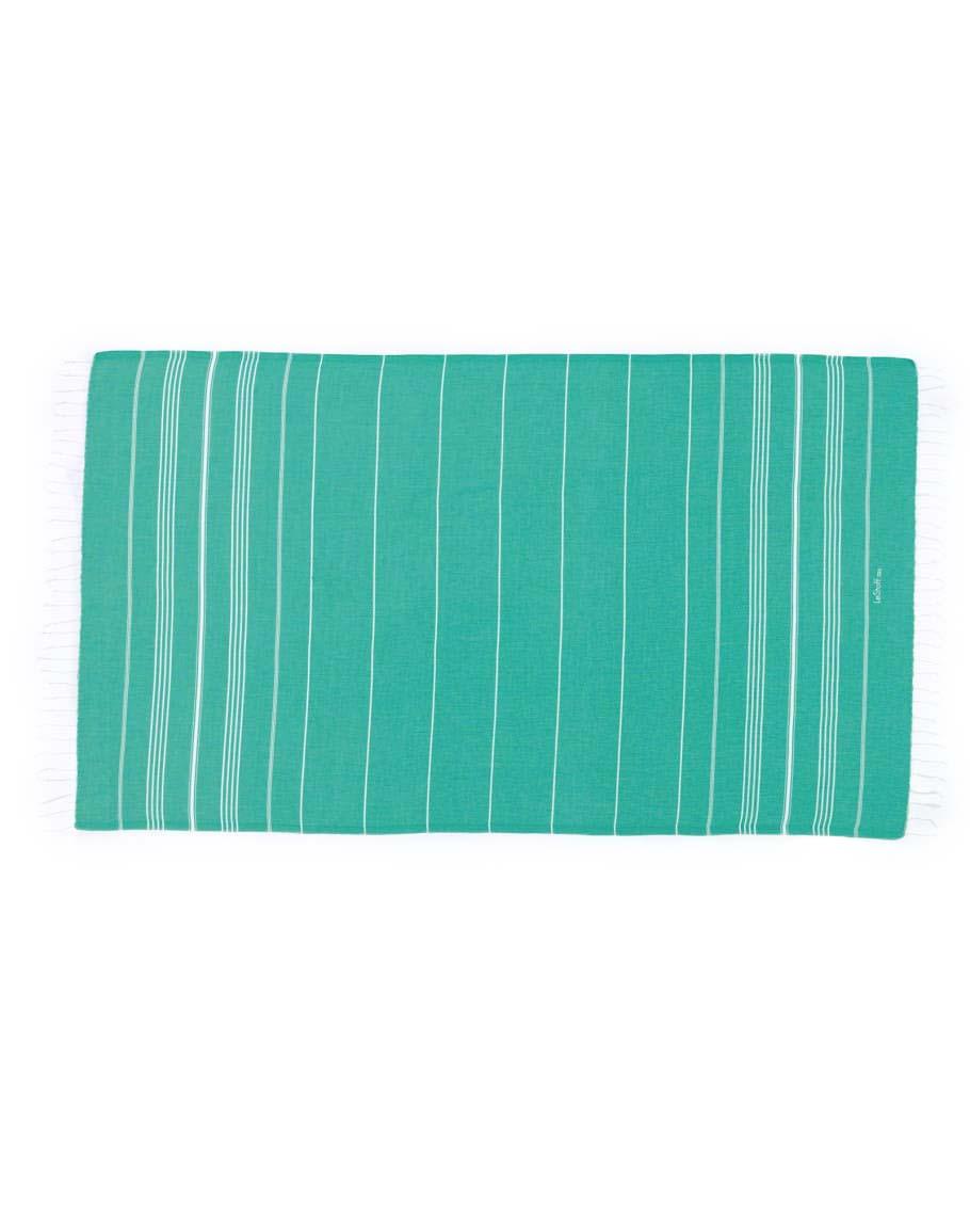 Fouta en coton peigné Turquoise 50 x 100 cm