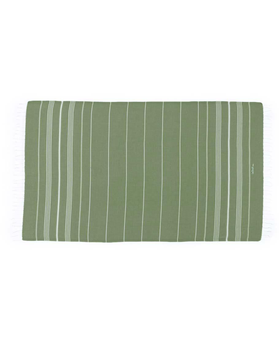 Fouta en coton peigné Olive 50 x 100 cm