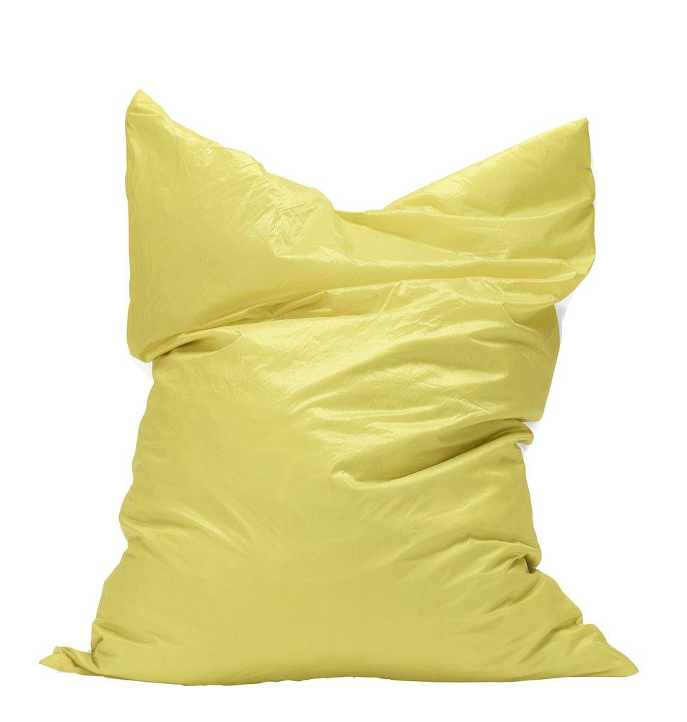 Pouf géant en toile de montgolfière recyclée jaune