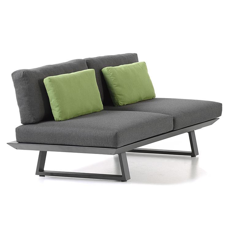 Canapé 2 places en alu anthracite
