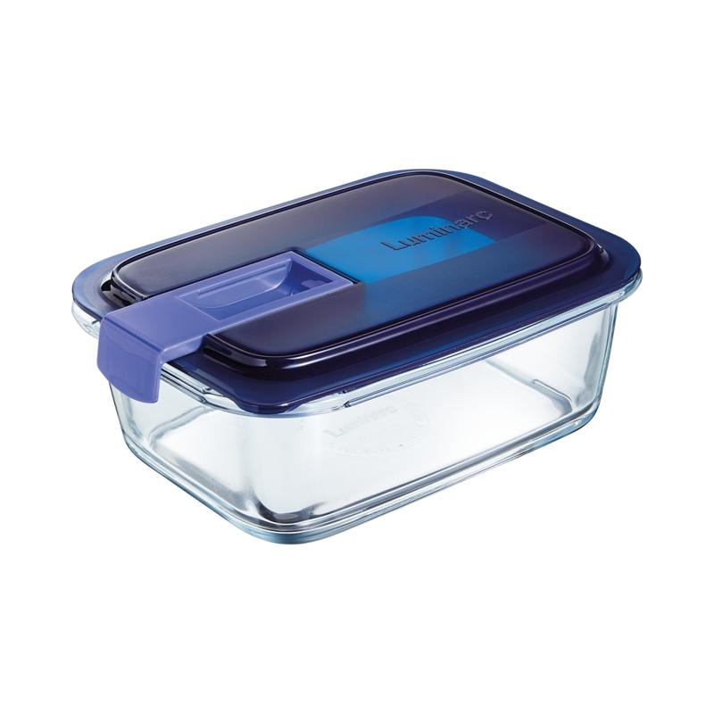 Boîte rectangulaire bleue 82cl