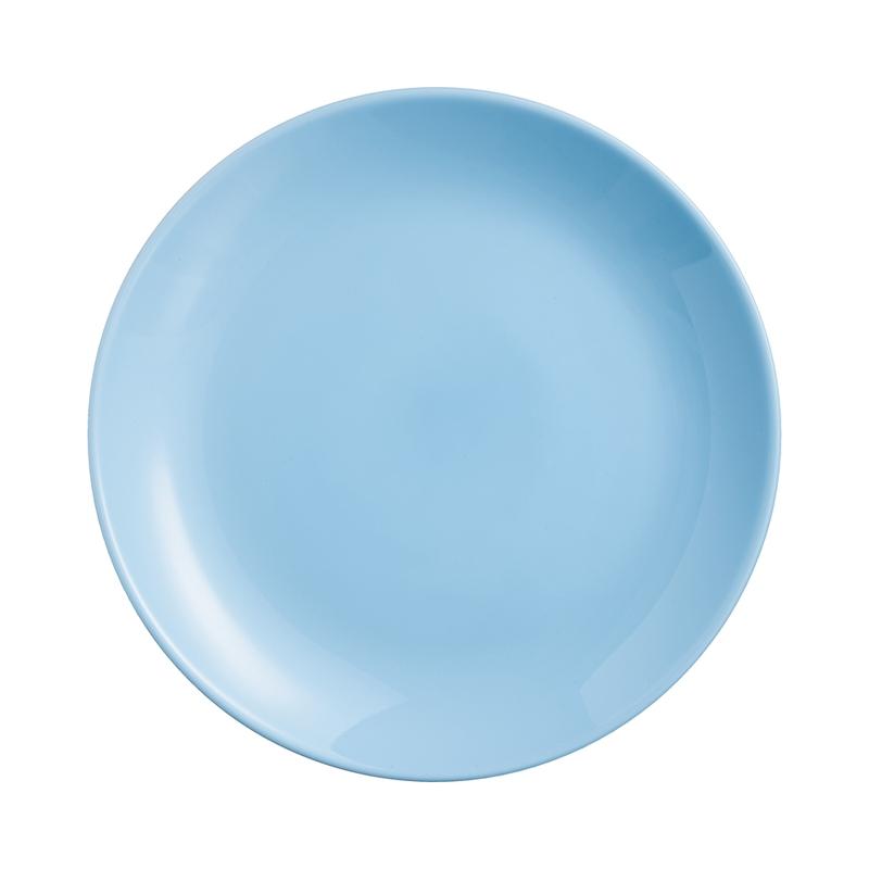 Assiette à dessert en opale bleu D19cm