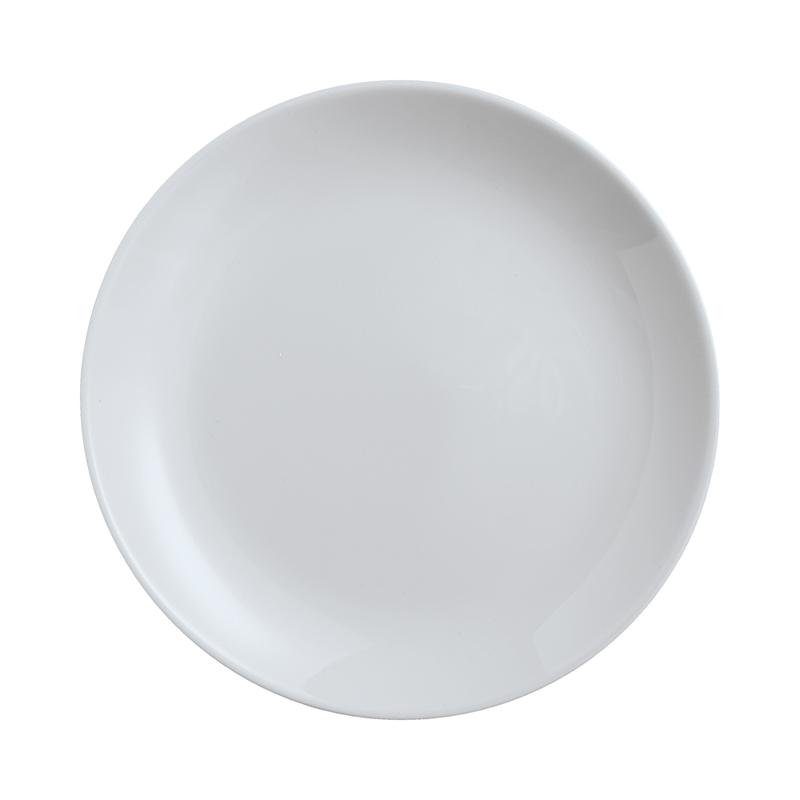 Assiette à dessert en opale gris D19cm