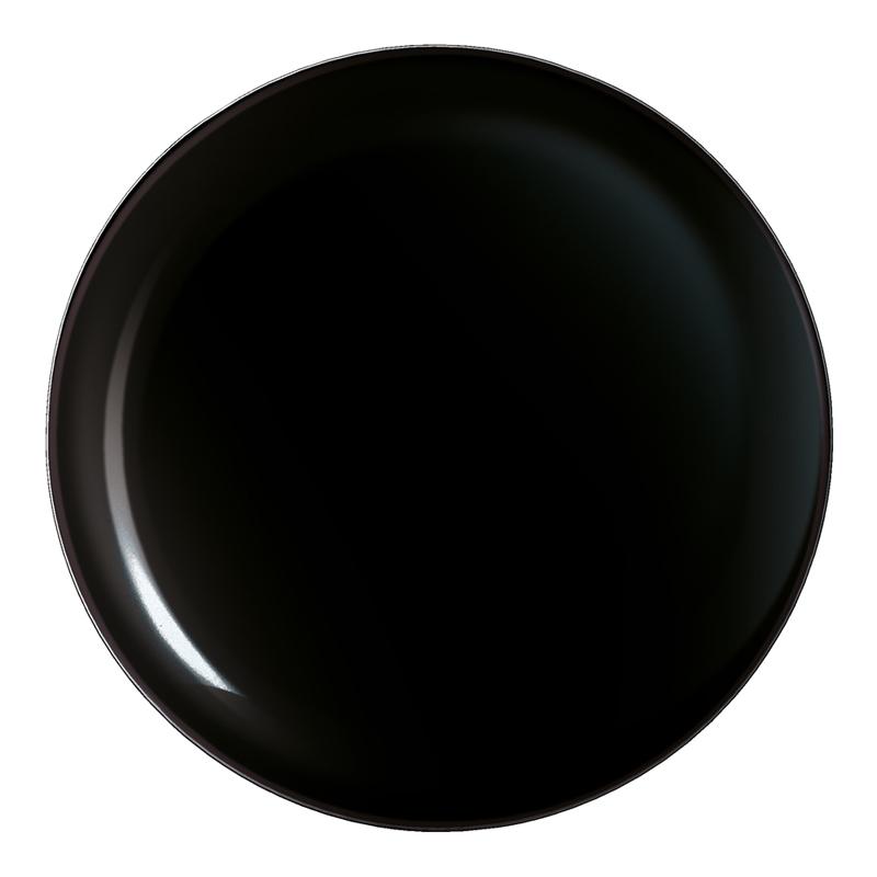 Assiette plate noire D27cm