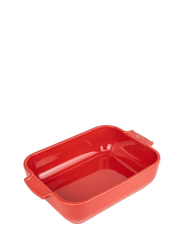 Plat four céramique rectangle rouge 25cm