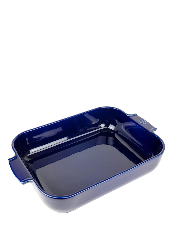 Plat four céramique rectangle bleu profond 40cm