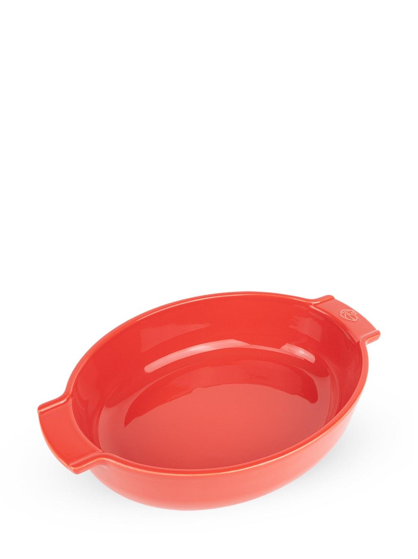 Plat four céramique ovale rouge 31cm
