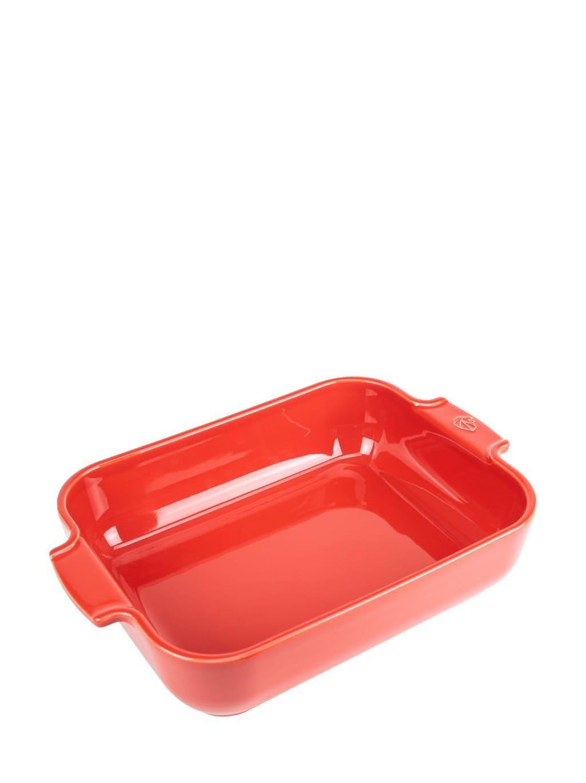 Plat four céramique rectangle rouge 32cm