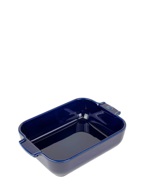 Plat four céramique rectangle bleu profond 25cm