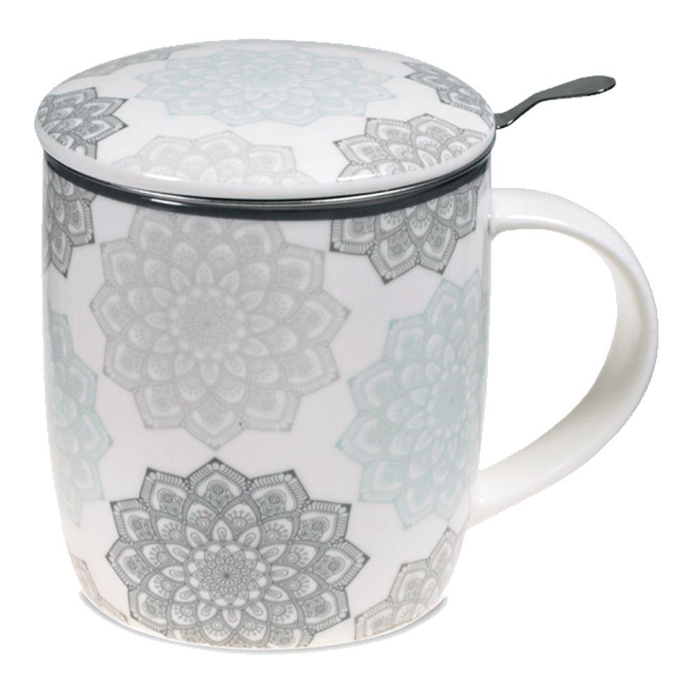 Tisanière en porcelaine grise avec infuseur