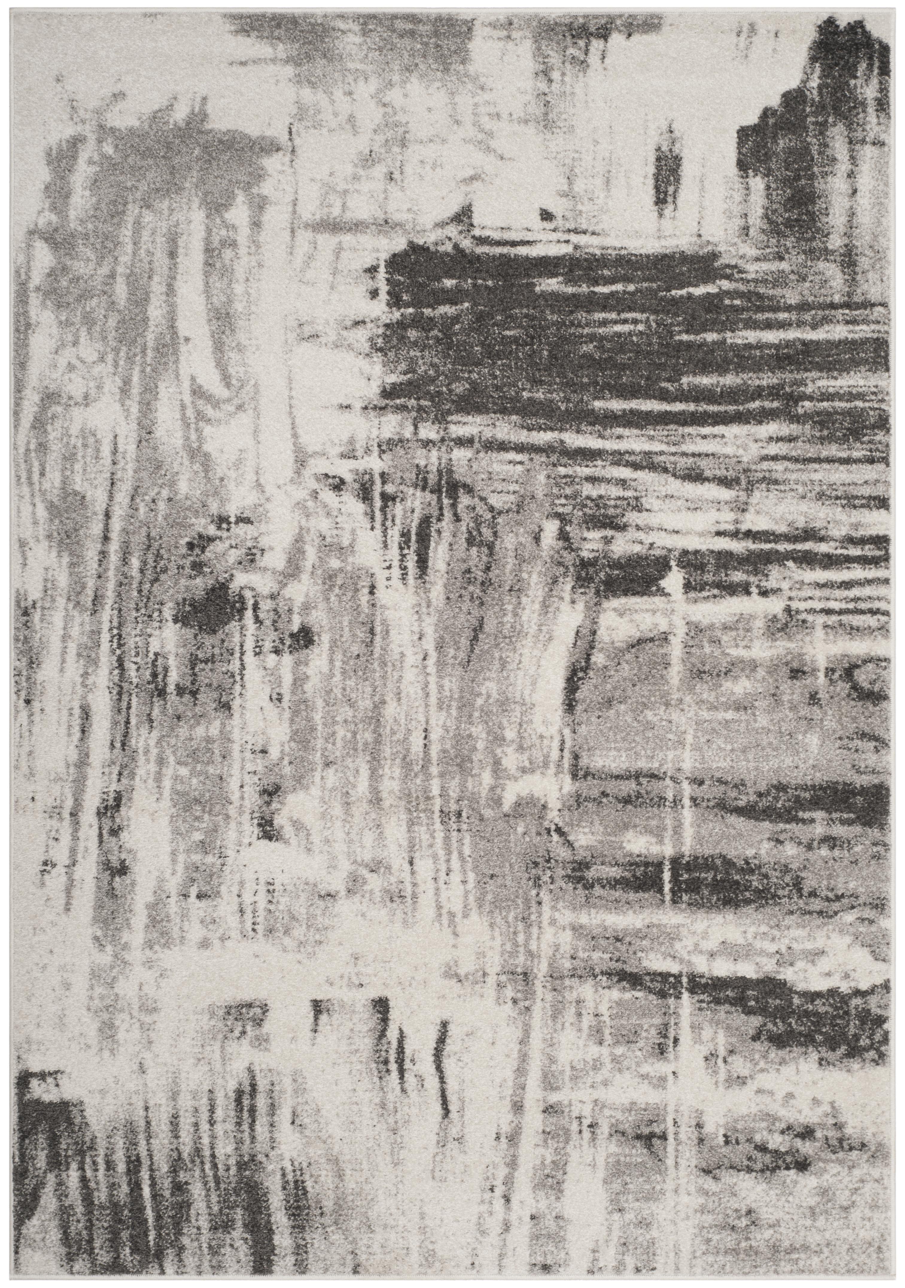 Tapis de salon contemporain  ivoire et gris 120x180