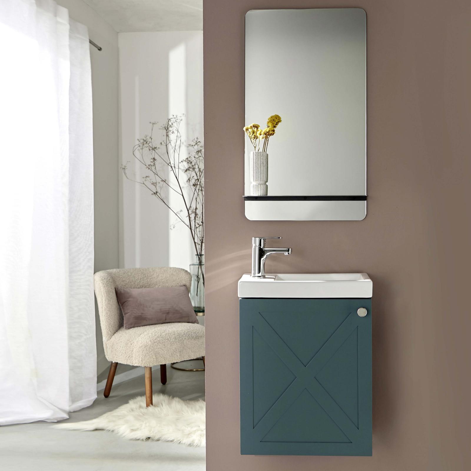 Meuble lave-mains avec miroir Vert